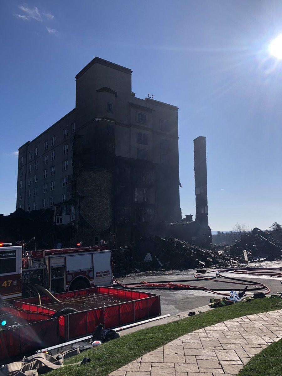 Pocono fire partial demolition
