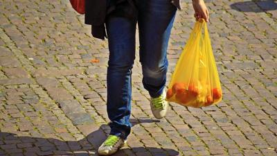 Plastic shopping bag generic