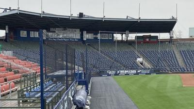 Empty grandstand at FirstEnergy Stadium in Reading
