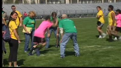 Special Olympics track and field event held in Whitehall