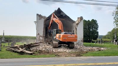 Family grieves as 19-century church in Berks demolished