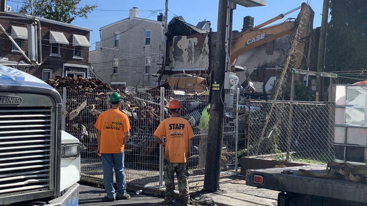 Allentown row home fire demolition 1.JPG