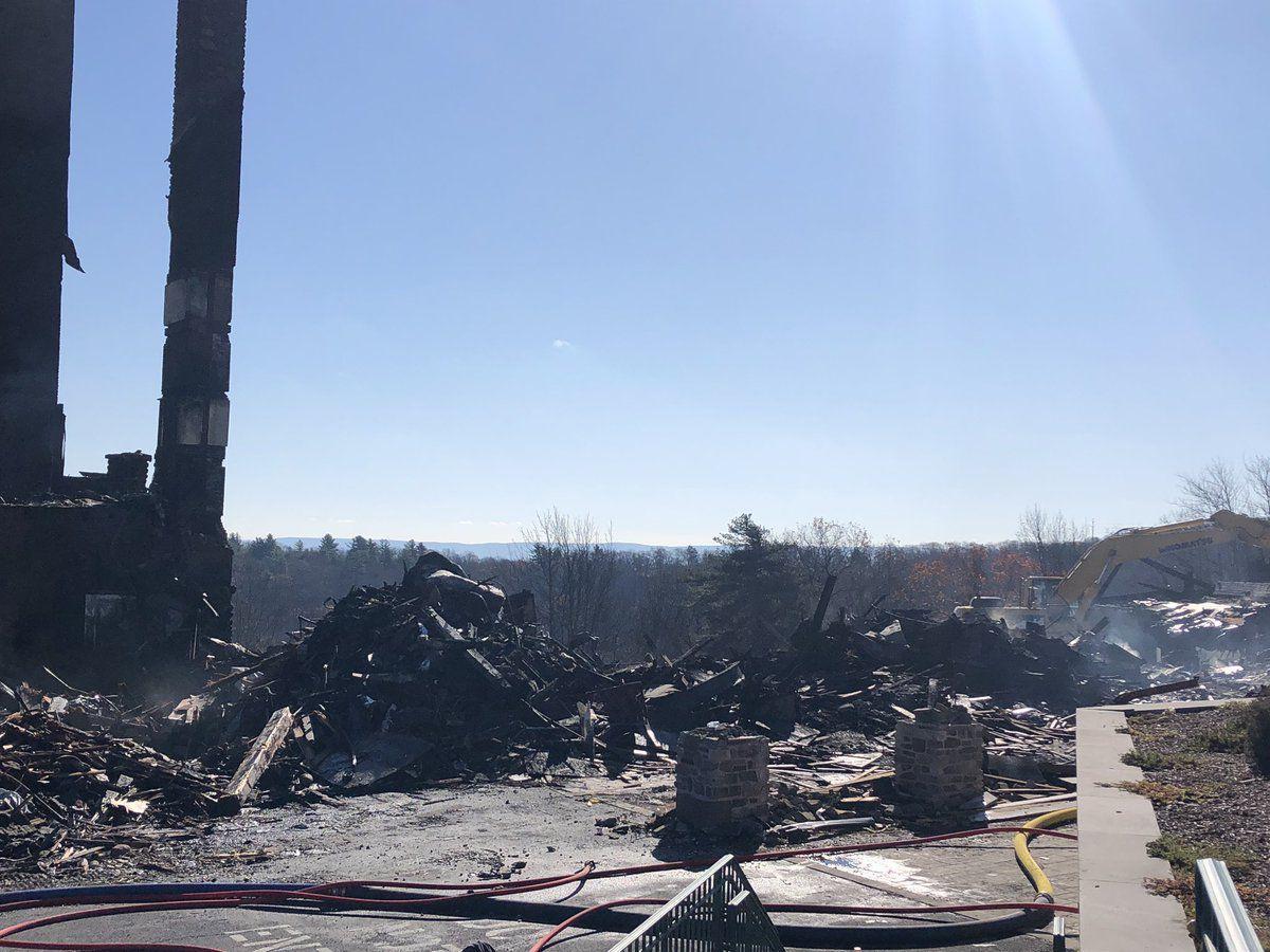 Pocono fire rubble