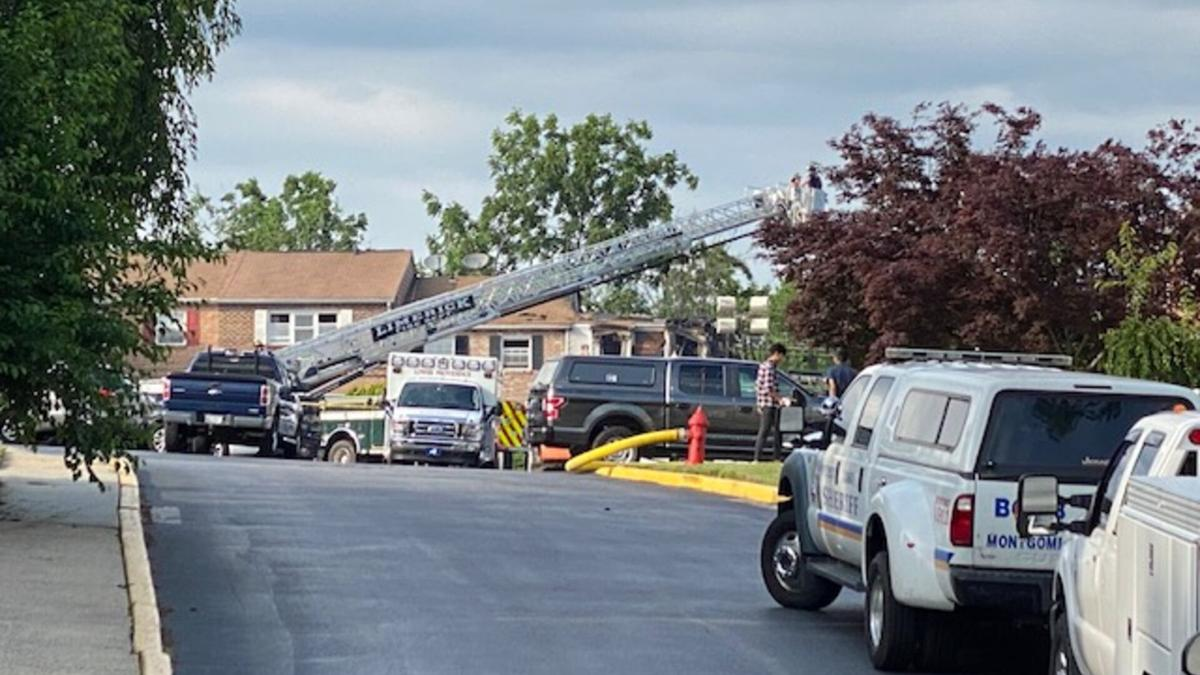 Scene of Montco housing community fire