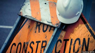 Construction sign road work generic