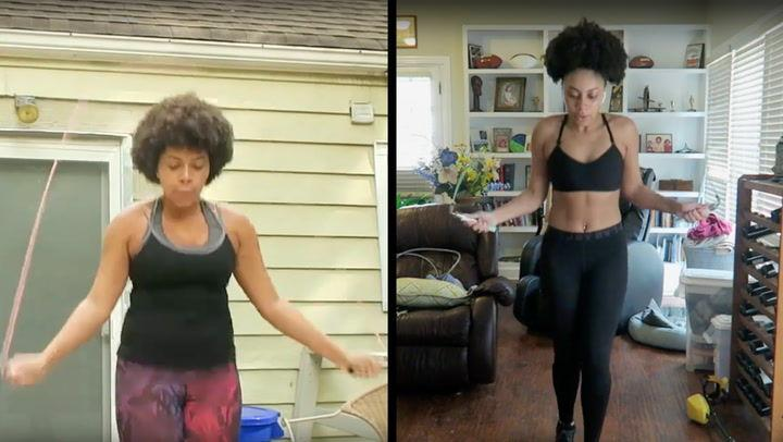 Woman Transforms Body By Jumping Rope Every Day For A Year Right This Minute Wfmz Com