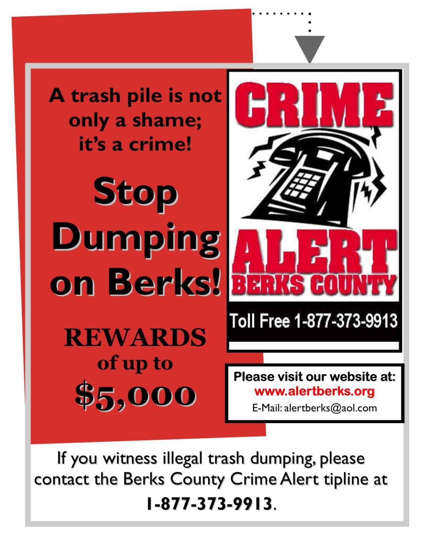 Stop Dumping on Berks flyer