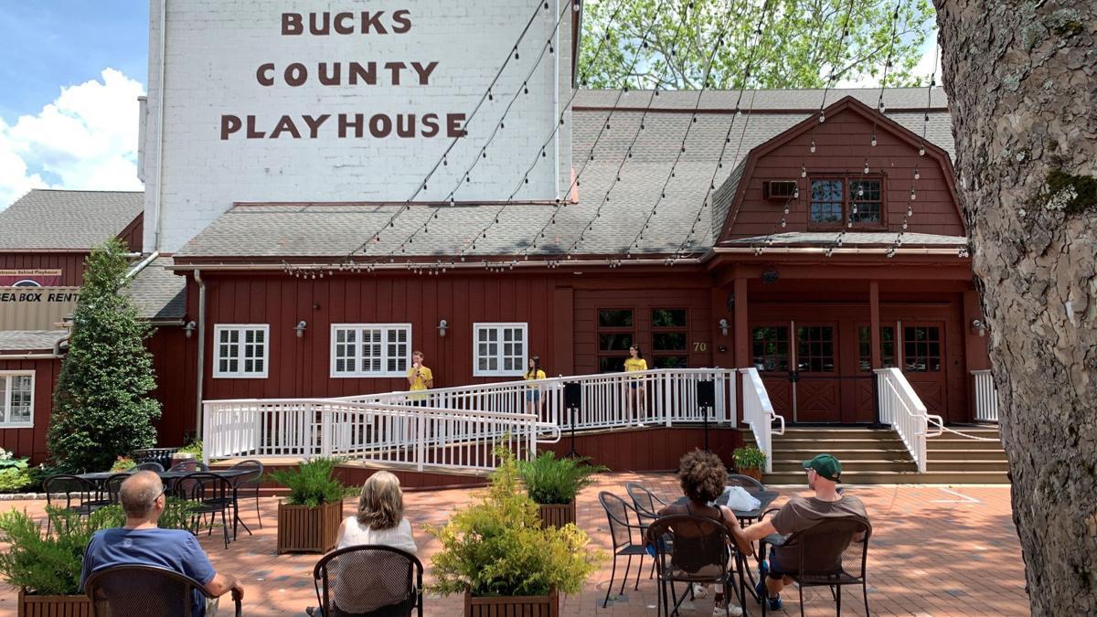 Bucks County Playhouse courtyard