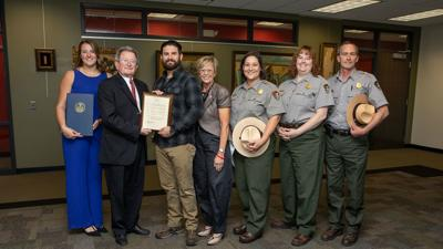 ESU student from Bethlehem honored for performing Heimlich Maneuver on park services employee