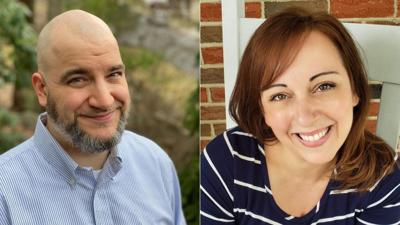 Shaun Hayes and Kelly James