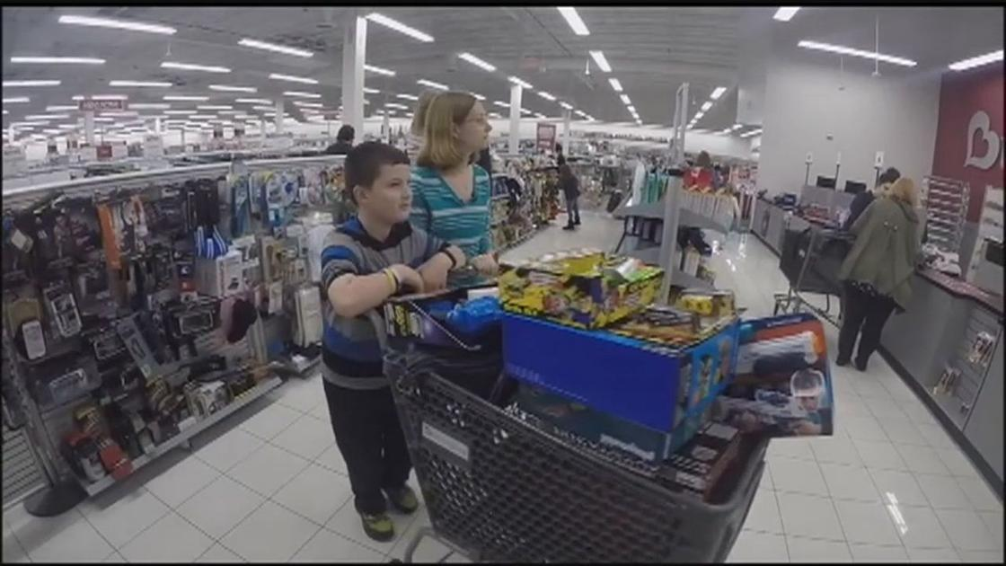 Young cancer survivor gets once in a lifetime shopping spree
