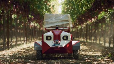 Carry, a robotic, autonomous harvest companion for specialty crops (image courtesy of Future Acres)