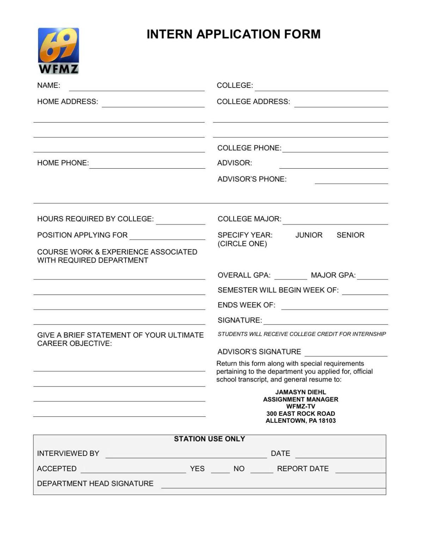 Lehigh Valley Internship Application Form