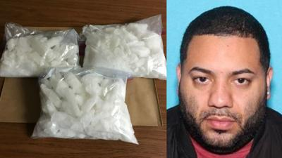 Hazleton drug bust_6 pounds of meth sized Jose Vargas arrested