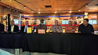 NBA legend Karl Malone visits Ali's former training camp