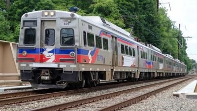 SEPTA train on Norristown line