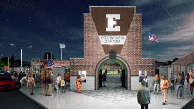 Cottingham Stadium main entrance rendering
