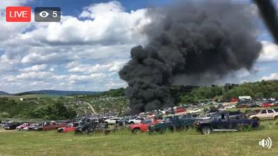 Pennsylvania auto salvage yard destroyed in dramatic fire