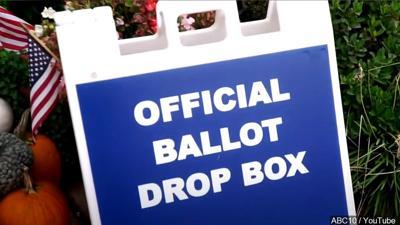 Ballot drop box sign