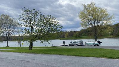 Boat ramp at Blue Marsh Lake