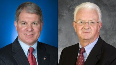 Pa. Sen. David Argall and Pa. Rep. Jerry Knowles