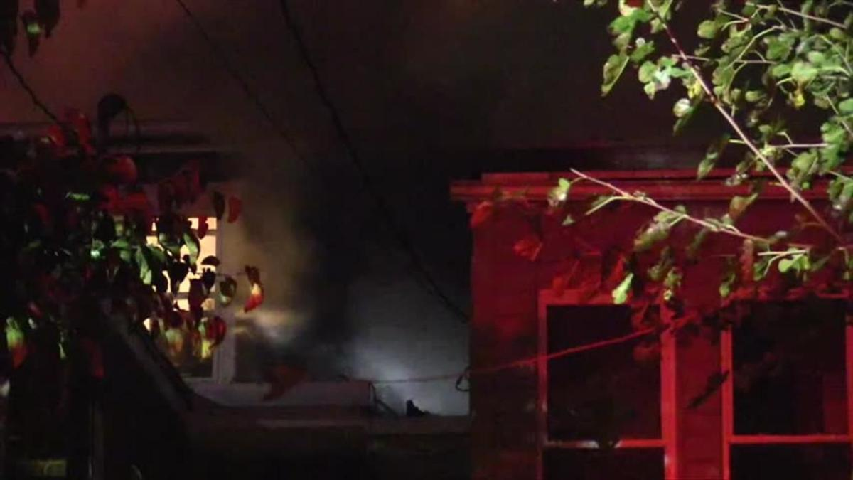 Crews battle row home fire in Allentown