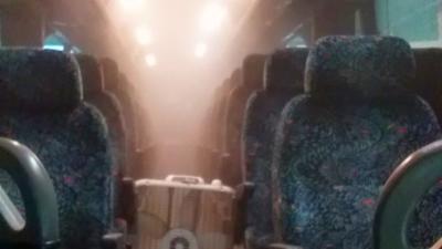 Klein Transportation disinfecting bus - COVID-19 - coronavirus