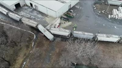 Cement plant worker injured in Northampton County train crash