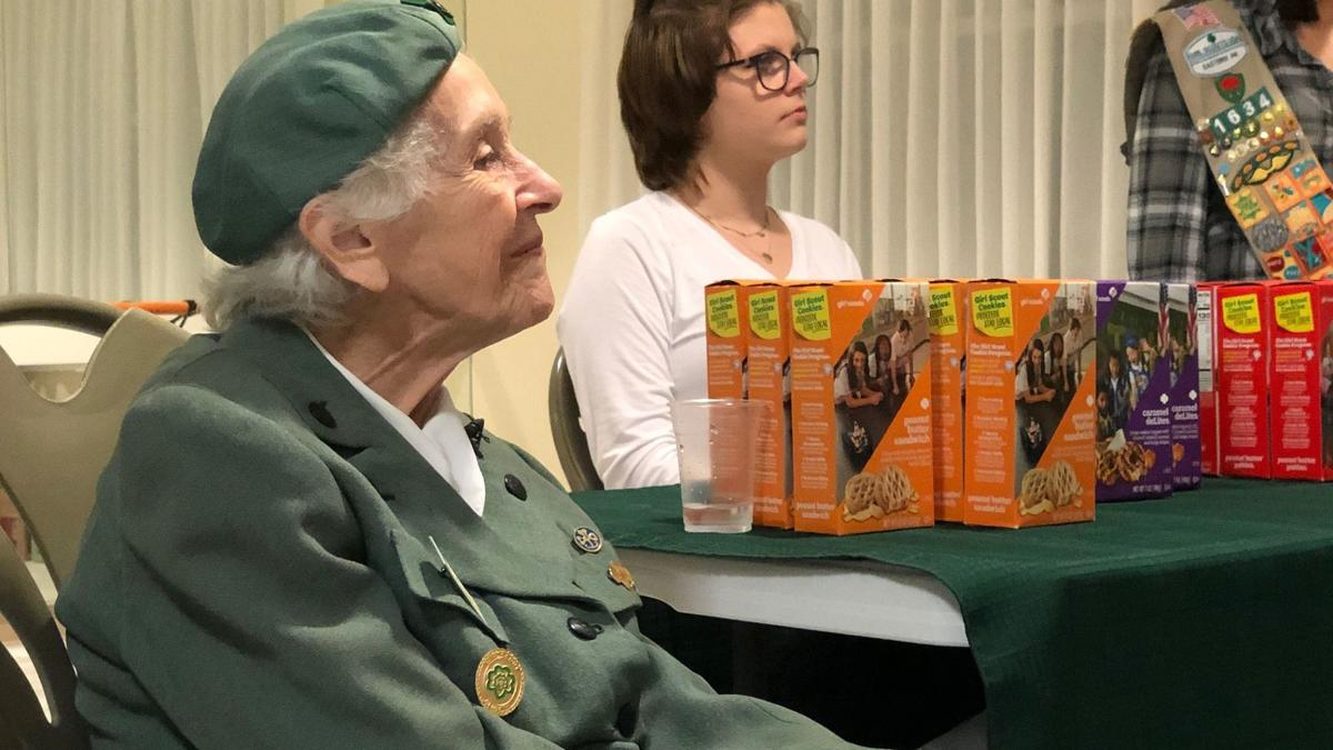 Ronnie Backenstoe selling Girl Scout cookies in Wernersville