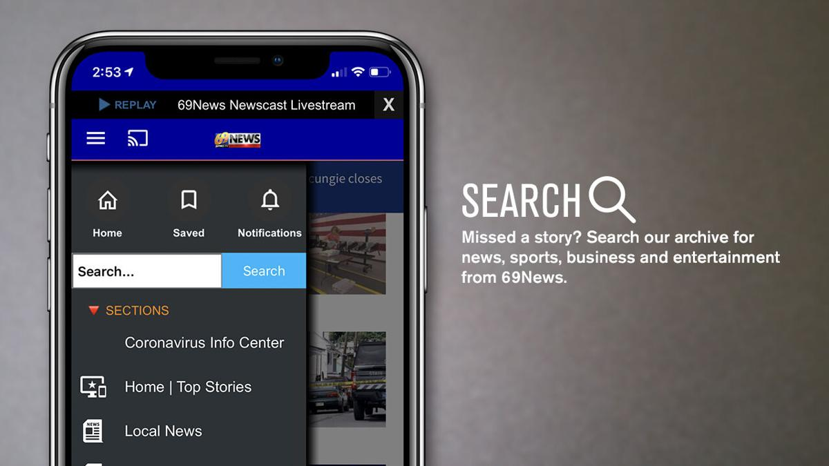 Updated 69News app: Search