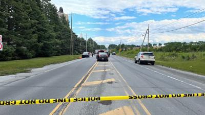 Police tape Route 248 crash