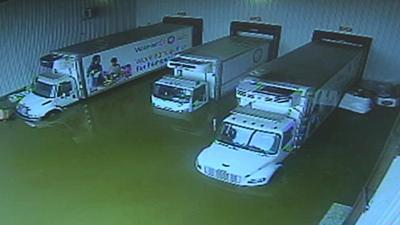 Food bank forced to scrap 3 trucks submerged by floodwater