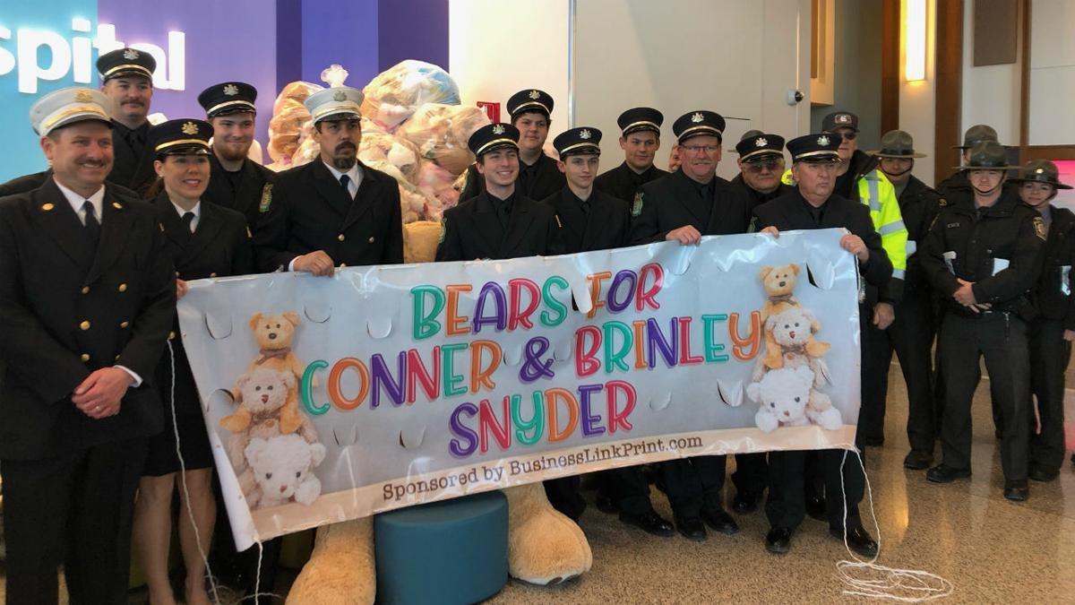 Bears donated to children's hospital to honor Snyder kids.jpg