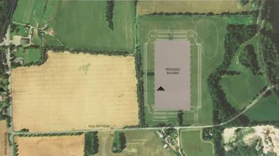 White Township Jaindl warehouse placement