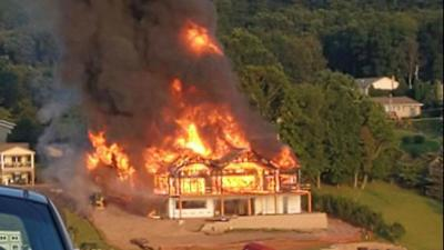 Foul play not suspected in massive blaze at home on Lake Wynonah