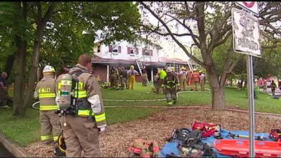 Fire heavily damages house in Bangor