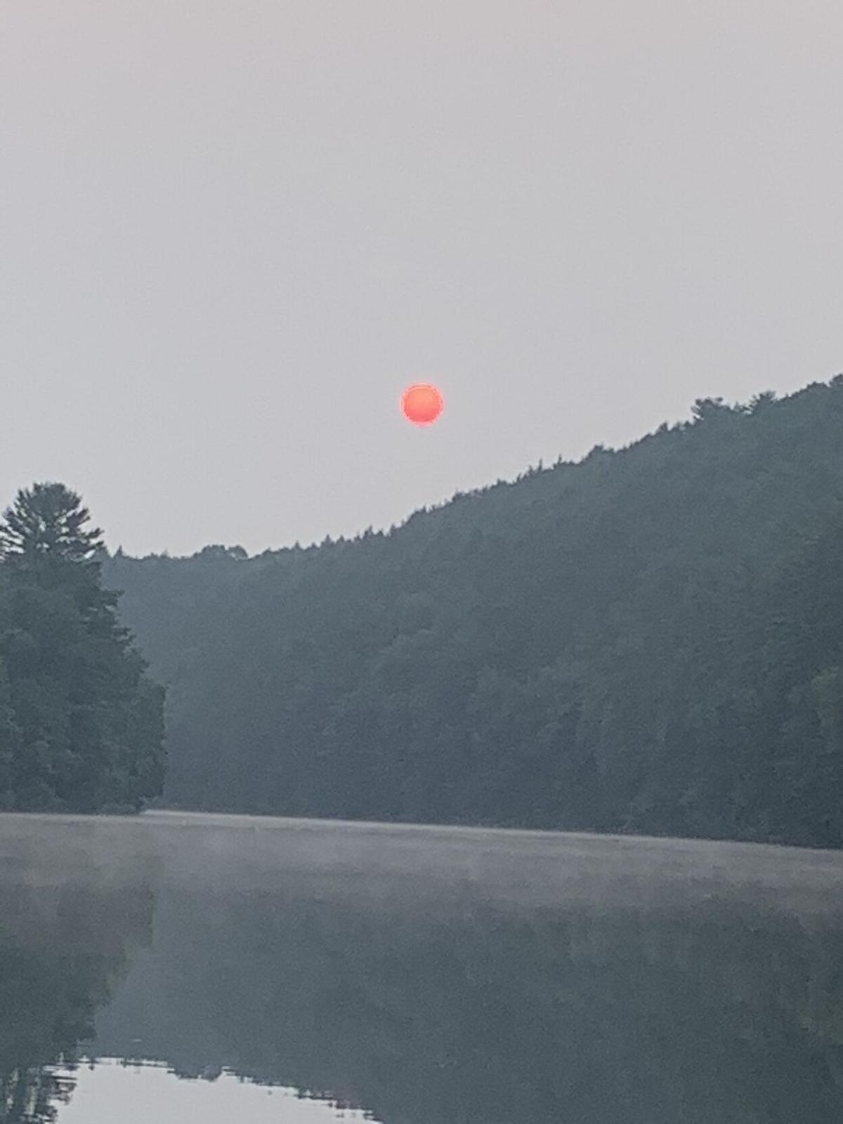 Franklin Township hazy sunrise