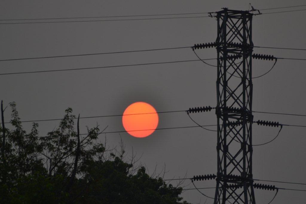 Hazy sunrise Bethlehem Township
