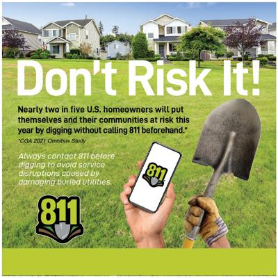 Digging without knowing the approximate location of underground utilities can result in serious injuries, inconvenient service interruptions and costly repairs.