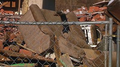 Vacant home collapses; 'It looked like a bomb went off'