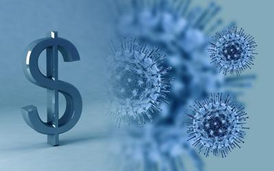 coronavirus money cash generic graphic