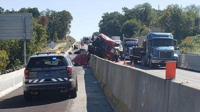 Dump truck driver cited in crash that closed I-78 West