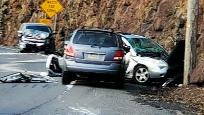 Route 61 crash near Pottsville