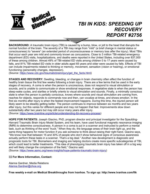 Medical Blueprints: TBI in kids