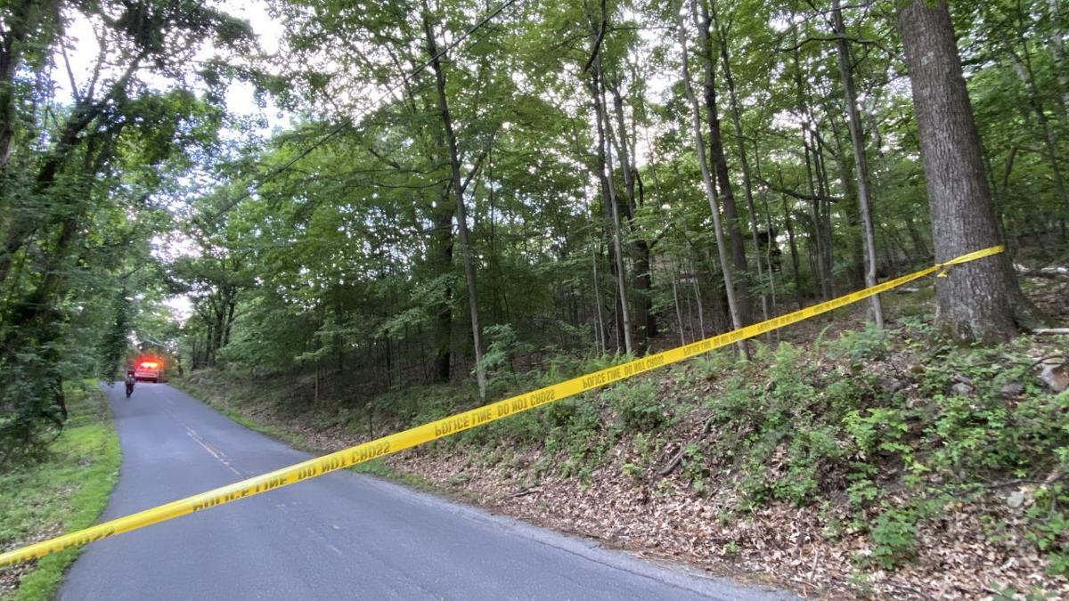 Crime scene tape set up after Smithfield Township incident.jpg