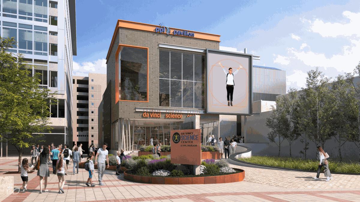 Da Vinci Science Center Hamilton Street entrance rendering