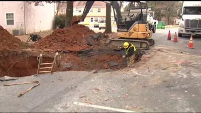 Sinkhole robs 7 families of their Bethlehem homes