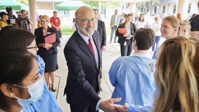 Pennsylvania Gov. Tom Wolf visits Reading Area Community College - RACC