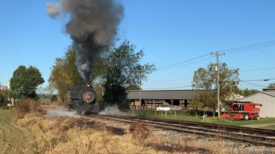 Steam locomotive makes cameo appearance on rails in Berks