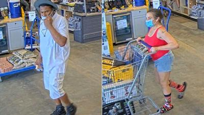 Surveillance of theft at Lowe's in Exeter